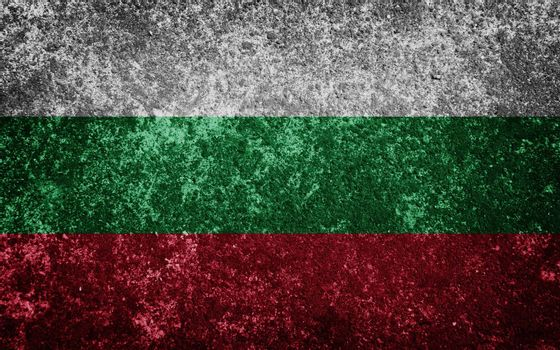 Bulgaria flag painted on concete