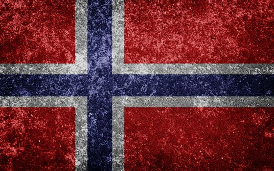 Norway flag painted on concrete