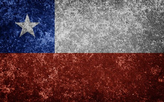Chile flag painted on concrete