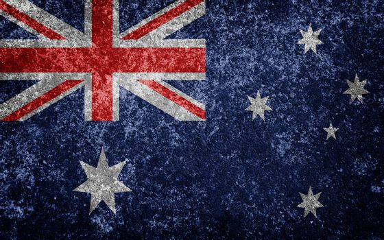 australia flag painted on concete