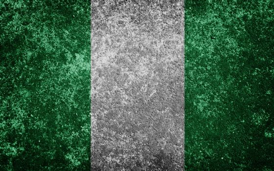 Nigeria flag painted on concrete