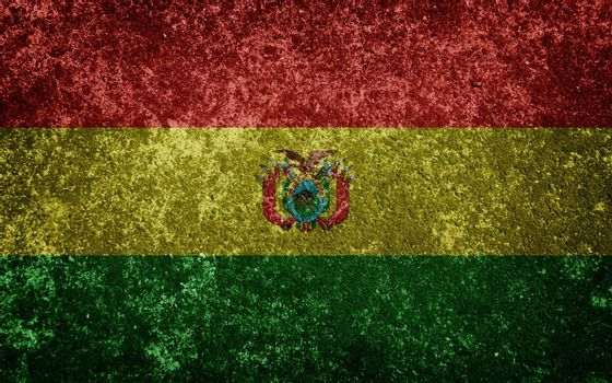 bolivia flag painted on concete