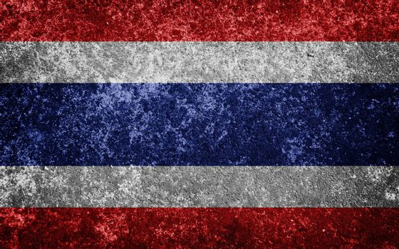 Thailand flag painted on concrete