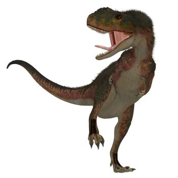Rugops was a predatory feathered theropod dinosaur that lived in Africa during the Cretaceous Period.