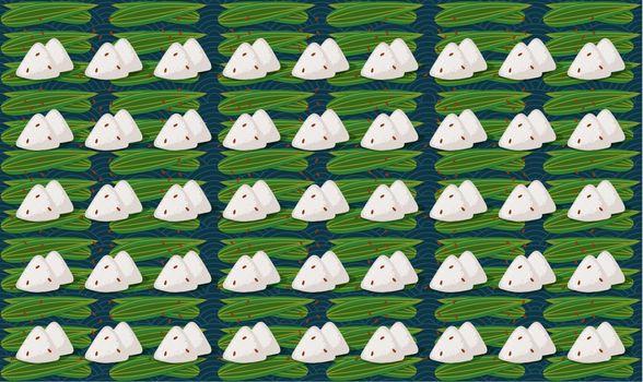digital textile design of art on leaves