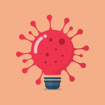 Virus lightbulb icon