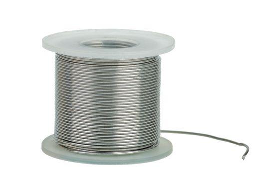 Spool of soldering alloy