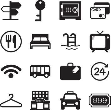 Hotel & hostel icons set