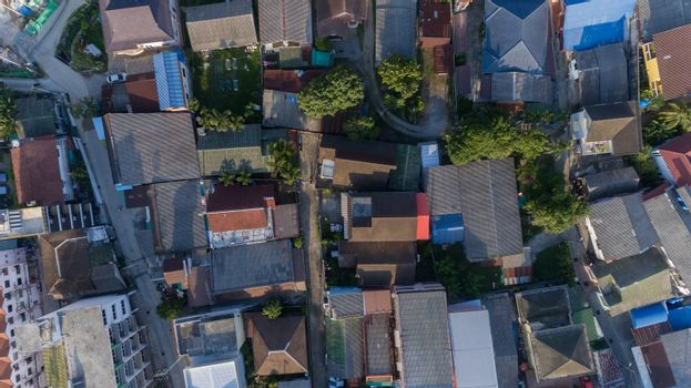 Aerial view of Thai village in South of Thailand