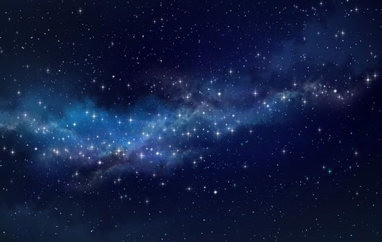 Star field in outer space