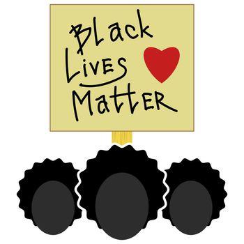 Black Lives Matter Paper Banner for Protest on White Background