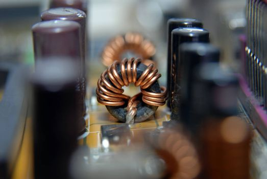 Computer internal hardware circuit board
