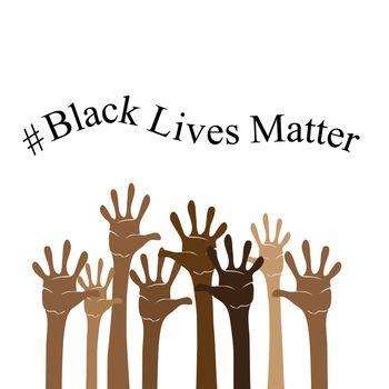 Black Lives Matter Banner for Protest on White Background