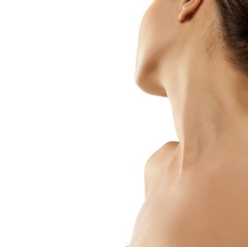 woman naked shoulder and neck
