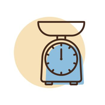 Scales vector icon. Kitchen appliance