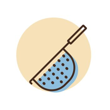 Colander vector icon. Kitchen appliance