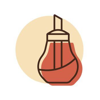 Sugar bowl shaker bottle vector icon
