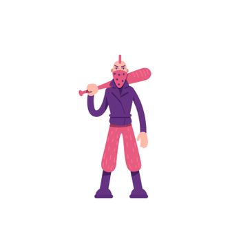 Rebel flat color vector character