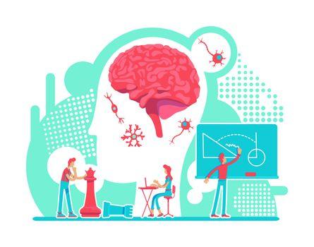 Neurology flat concept vector illustration