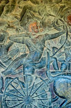 Khmer warrior bas relief