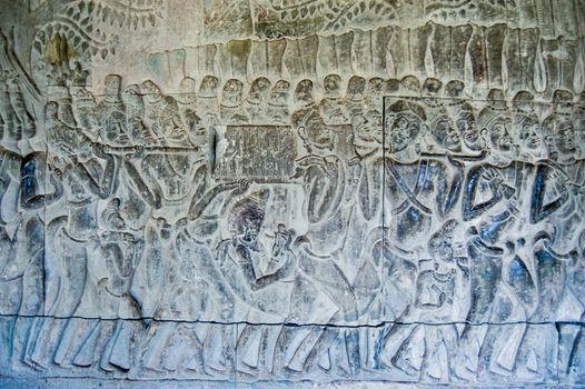 Bas Relief Ark Carrying Angkor Wat