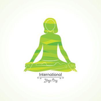 illustration of A Girl doing yoga for International Yoga Day observed on 21st June