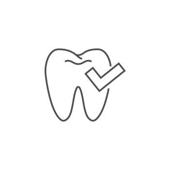 Dental Check Line Icon. Dental Check Line Related Vector Line Icon. Isolated on White Background. Editable Stroke.