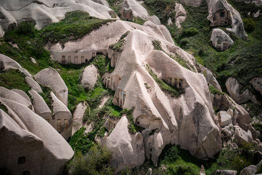 Volcanic rock Formations from Cappadocia, Turkey.