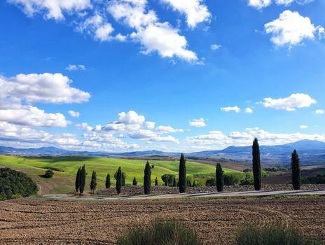 Fields in Toscana in Italy