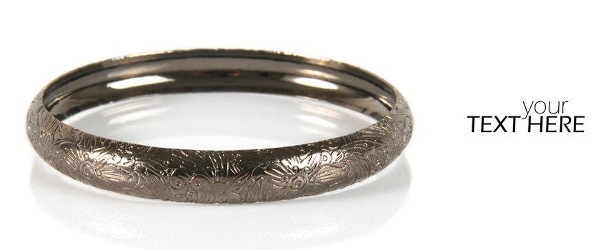 Fashion bracelet with the copy space
