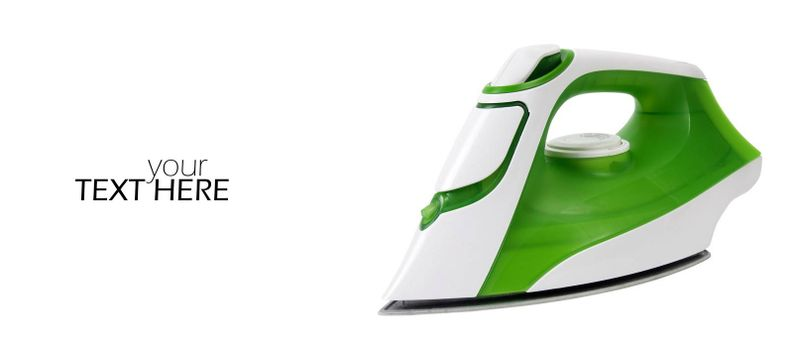 Steam iron with the copy space