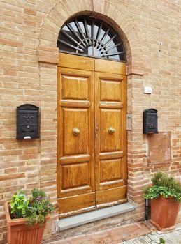 Old vintage doors in Italy