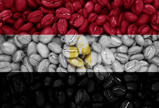 coffee with the country flag background