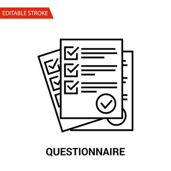 Questionnaire Icon. Thin Line Vector Illustration
