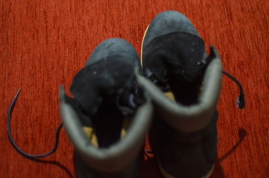 Old Ragged Blue Boots, Vintage, Dirty