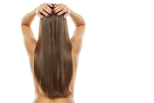 long straight women's hair