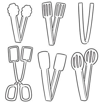 set of tongs