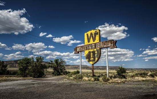 Vintage Whiting Bros. sign in New Mexico