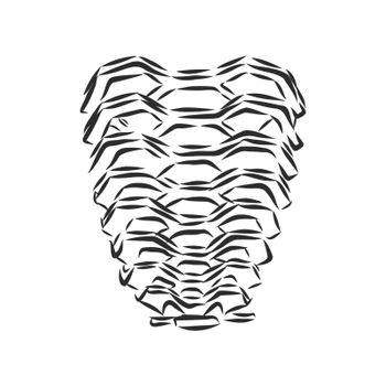endless staircase Vessel in New York, vector sketch