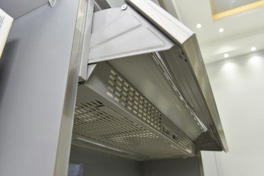 Closeup of a cooker hood extractor fan