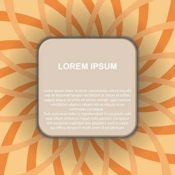 Design element, colored background with a place for an inscription.