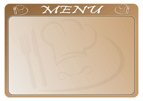 Template for restaurant menu and place for text