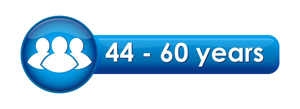 button with the pictogramme and the age limit of 44-60 years