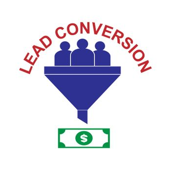 Lead conversion, simple icon for blogs, websites and apps