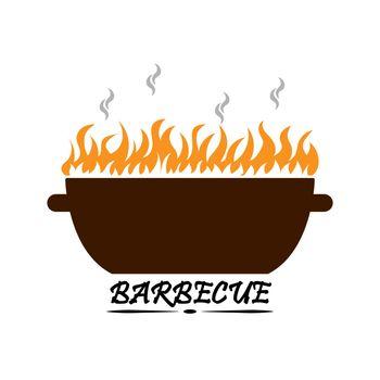 Barbecue logo for menu decoration and design
