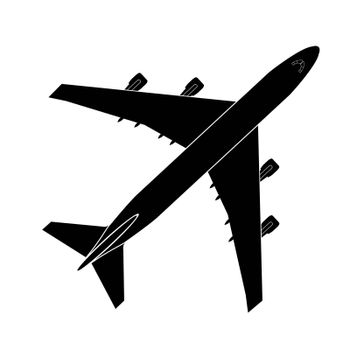 simple image of turboprop jet aircraft, air transport