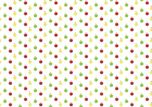 Simple abstract Apple pattern, flat design