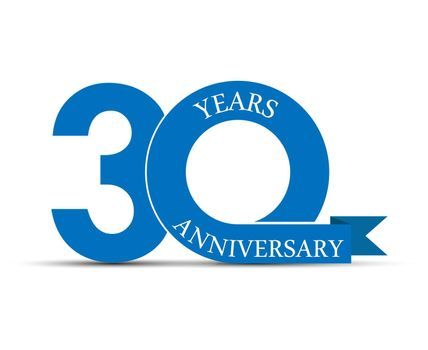 30 years anniversary, simple design, logo for decoration