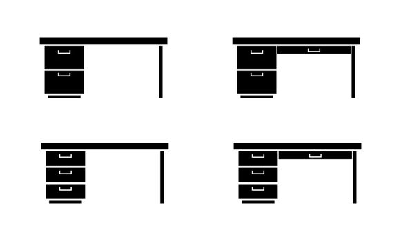 Set of templates for design and decoration, office furniture, fl