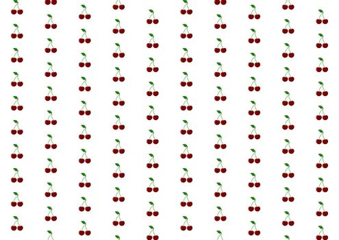 Simple abstract cherry fruit pattern, flat design